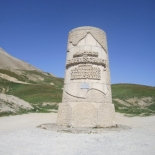 Henri Desgrange monument below the Galibier