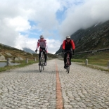 On the old road up the San Gottardo Pass