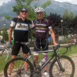 With Maurizio Fondriest, who joined us for a few hours