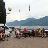 Waiting for the ferry, Lago di Como