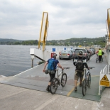 Stretching those legs - boarding the Lake Windermere ferry