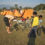 Camp life and helping hands