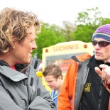 Rather Be's Gav McDonald with James Cracknell - Pic by Steve Razzetti
