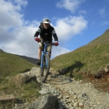 Singletrack descent down to Wasdale Head from Black Sail Pass