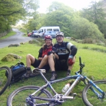 Break time at the foot of Hardknott Pass